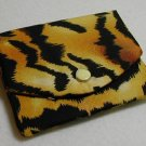 ID Card Holder Mini Wallet Tiger Stripe Print
