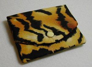 ID Card Holder Mini Wallet Tiger Stripe Print