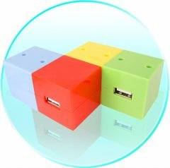 3 Port USB Hub & Bluetooth Dongle - Rubix Cube Design