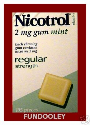 NICOTROL NICOTINE 2MG MINT GUM - 2 Boxes
