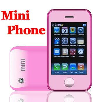 Mini K780 Pink Quadband Dualsim  Touch Screen Unlocked Cell Phone + 2GB TF  Mini i9+ and KA08 series
