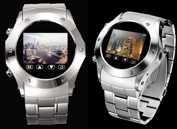W968 stylish high-end steel watch mobile phone quad-band watch mobile phone