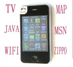 PK168 quad-band dual sim dual standby java  wifi phone