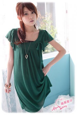 Boat neck knit dress-top (D8446)