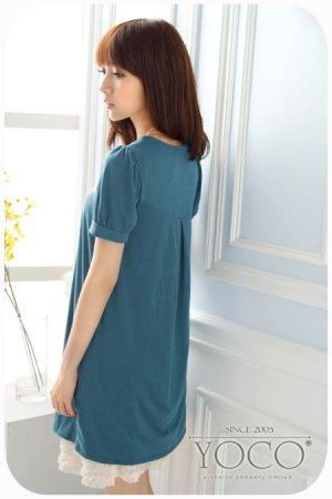 Lacy neckline dress (D8847)
