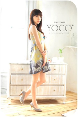 Jap print tube dress (D8856)
