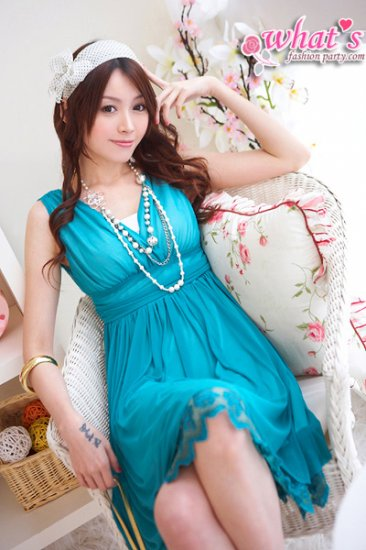 Soft polyester dress (D8858)