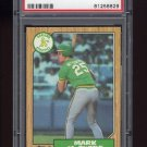 1987 Topps Baseball #366 Mark McGwire - Oakland Athletics Graded PSA Mint 9