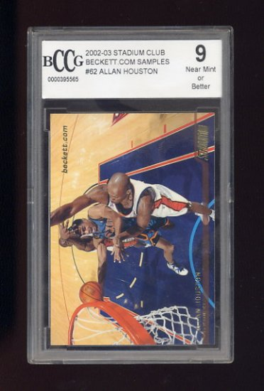 2002-03 Stadium Club Basketball #62 Allan Houston - New York Knicks Graded BCCG 9