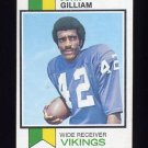 1973 Topps Football #85 John Gilliam - Minnesota Vikings