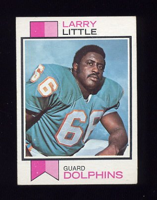 1973 Topps Football #440 Larry Little - Miami Dolphins ExMt