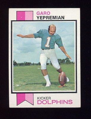 1973 Topps Football #465 Garo Yepremian - Miami Dolphins