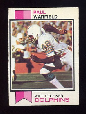 1973 Topps Football #511 Paul Warfield - Miami Dolphins Vg