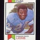 1973 Topps Football #519 Mel Farr - Detroit Lions