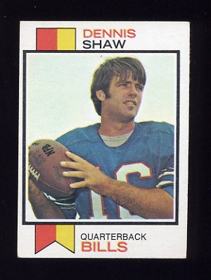 1973 Topps Football #525 Dennis Shaw - Buffalo Bills ExMt