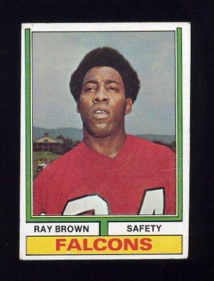 1974 Topps Football #514 Ray Brown RC - Atlanta Falcons p