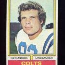 1974 Topps Football #385 Ted Hendricks - Baltimore Colts