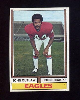 1974 Topps Football #354 John Outlaw - Philadelphia Eagles