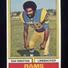 1974 Topps Football #285 Isiah Robertson - Los Angeles Rams