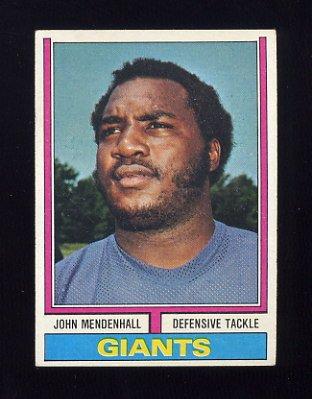 1974 Topps Football #232 John Mendenhall RC - New York Giants