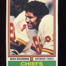 1974 Topps Football #218 Buck Buchanan - Kansas City Chiefs