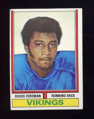 1974 Topps Football #113 Chuck Foreman RC - Minnesota Vikings