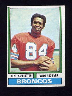 1974 Topps Football #63 Gene Washington - Denver Broncos