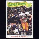 1975 Topps Football #528 Super Bowl IX / Terry Bradshaw - Pittsburgh Steelers
