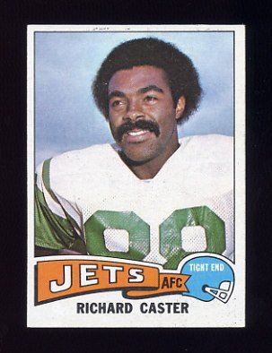 1975 Topps Football #515 Richard Caster - New York Jets Ex