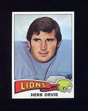 1975 Topps Football #514 Herb Orvis - Detroit Lions