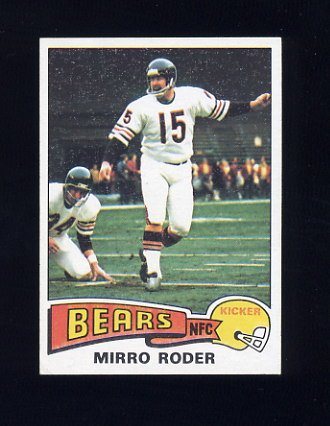 1975 Topps Football #508 Mirro Roder - Chicago Bears