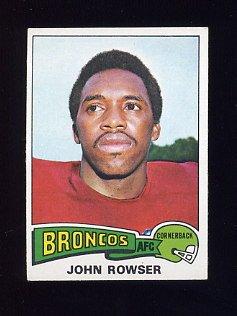 1975 Topps Football #498 John Rowser - Denver Broncos NM-M