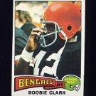 1975 Topps Football #491 Boobie Clark RC - Cincinnati Bengals