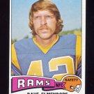 1975 Topps Football #482 Dave Elmendorf - Los Angeles Rams