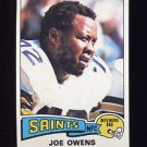 1975 Topps Football #468 Joe Owens - New Orleans Saints