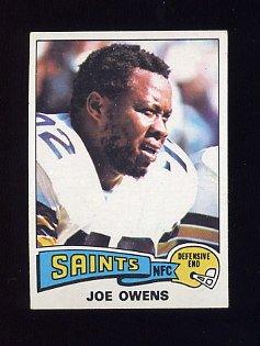 1975 Topps Football #468 Joe Owens - New Orleans Saints