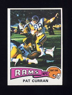 1975 Topps Football #446 Pat Curran - Los Angeles Rams NM-M