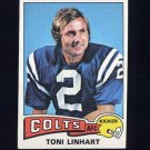1975 Topps Football #439 Toni Linhart - Baltimore Colts