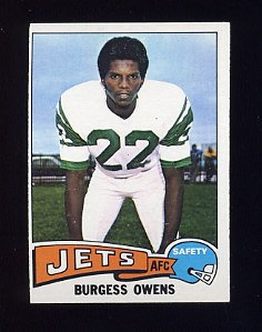 1975 Topps Football #424 Burgess Owens - New York Jets