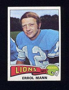 1975 Topps Football #421 Errol Mann - Detroit Lions