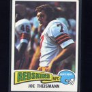 1975 Topps Football #416 Joe Theismann RC - Washington Redskins