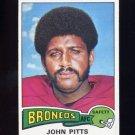 1975 Topps Football #409 John Pitts - Denver Broncos