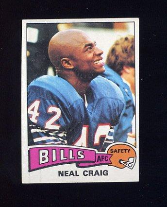 1975 Topps Football #387 Neal Craig - Buffalo Bills