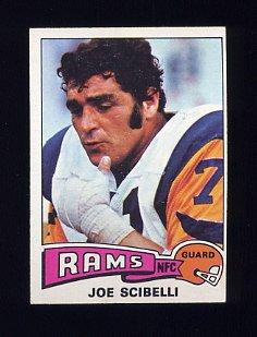 1975 Topps Football #386 Joe Scibelli - Los Angeles Rams