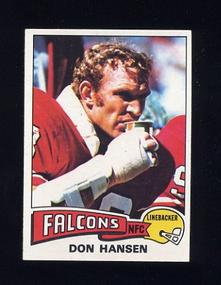 1975 Topps Football #384 Don Hansen - Atlanta Falcons