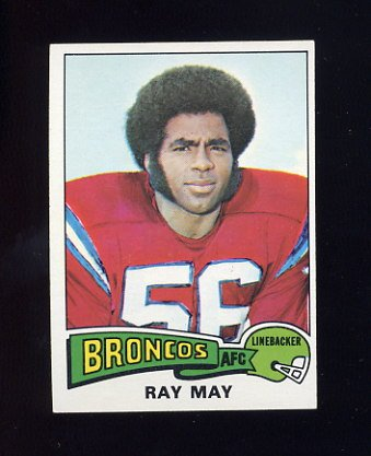 1975 Topps Football #383 Ray May - Denver Broncos