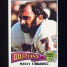 1975 Topps Football #378 Manny Fernandez - Miami Dolphins