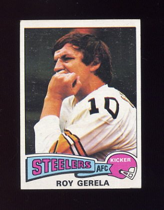 1975 Topps Football #370 Roy Gerela - Pittsburgh Steelers
