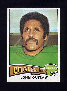 1975 Topps Football #369 John Outlaw - Philadelphia Eagles
