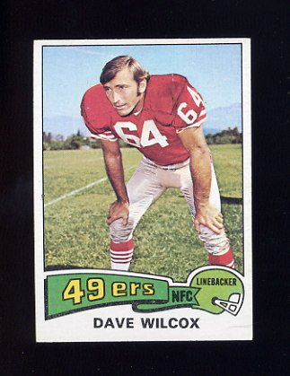 1975 Topps Football #331 Dave Wilcox - San Francisco 49ers